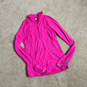 Ivivva girls hot pink half zip athletic jacket